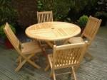 Teak Garden Outdoor Furniture KT 01 Folding Set