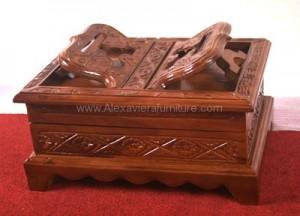 Rekal Al Quran Jati Box RA 03 Kerajian Kayu Jati Antik
