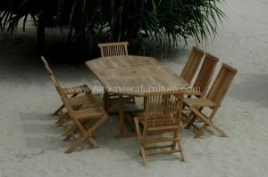 Teak Garden Furniture KT 03 Set Kursi Taman