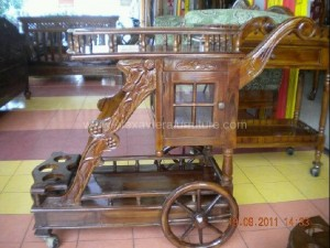 Trolley Kereta Dorong Jati KJ 08 Kerajinan Jepara
