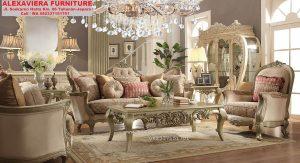 Model Sofa Ruang Keluarga Mewah Klasik KT-052