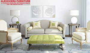 Set Kursi Sofa Ruang Tamu Alexaviera Furniture KT-042