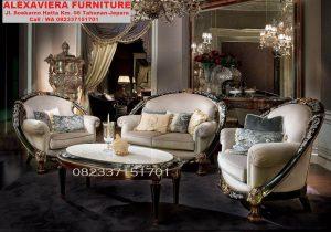 Set Kursi Sofa Tamu Mewah Klasik Modern Terbaru KT-039