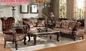 Set Sofa Ruang Tamu Klasik Ukiran Jepara Mewah KT-048