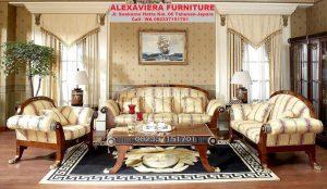 Set Sofa Ruang Tamu Terbaru Jepara Minimalis Mewah KT-043