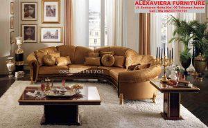 Set Sofa Ruang Tamu Terbaru Mewah Minimalis Sudut KT-045
