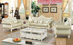 Set Sofa Ruang Tamu Terbaru Modern Klasik Mewah KT-044