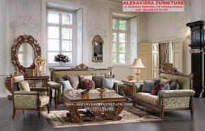 Set Sofa Tamu Klasik Ukiran Mewah KT-037