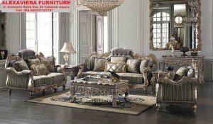 Sofa Ruang Keluarga Klasik Mewah Terbaru KT-056