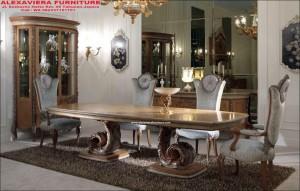 Meja Makan Set Mewah Terbaru Klasik Completa KM-067