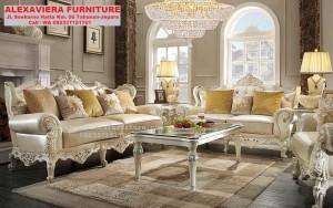 Sofa Set Ruang Tamu Modern Terbaru Klasik Ukiran KT-067