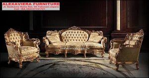 Set Sofa Tamu Mewah Klasik Racoco Terbaru KT-086