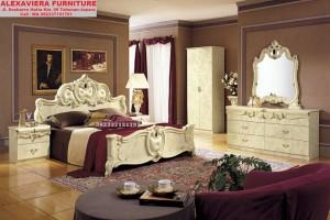 Set Tempat Tidur Mewah Klasik Model Italia Daun SKT-033, Jual Set Tempat Tidur Mewah Klasik Model Italia Daun, Dipan, Jual Set Kamar Tidur Mewah Klasik Model Italia Daun