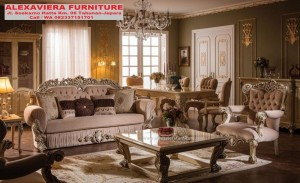 Sofa Set Tamu Ukiran Klasik Terbaru Mewah Kudos KT-075