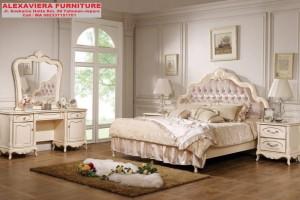 Tempat Tidur Set Jepara Klasik Kerang Terbaru SKT-058