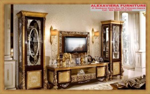 Bufet Dan Rak TV Terbaru Mewah Klasik Jesslyn AH-072, Bufet Klasik Mewah, Rak Tv Klasik Mewah
