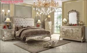 Kamar Set Terbaru Ukiran Mewah Jepara Mebel SKT-070, Desain Kamar Terbaru, 1 Set Kamar Tidur