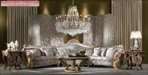 Sofa Sudut Ruang Tamu Royal Mewah Terbaru Modern Kekinian KT-102, Sofa tamu sudut Kekinian, kursi sudut Kekinian