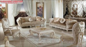 Sofa Tamu Mewah Modern Kekinian Terbaru Duco Klasik KT-098, 1 Set Sofa Tamu, Furniture Jepara Kekinian, Gambar Mebel Jepara