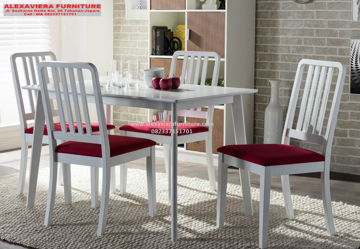 Set 4 Kursi Makan Minimalis Jepara Duco Alexaviera Furniture