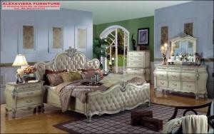 Set Tempat Tidur Mewah Barca Ukiran Model Eropa SKT-081