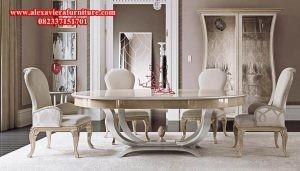 set kursi makan modern future mewah model kekinian terbaru km-112