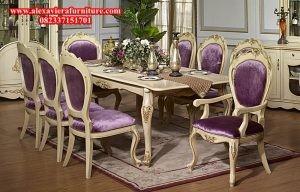 meja makan set klasik modern duco mewah kekinian km-115