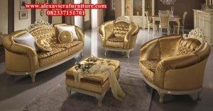 model sofa ruang keluarga modern terbaru mewah kekinian kt-123
