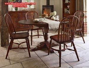 set kursi meja makan jati minimalis model klasik jepara km-128