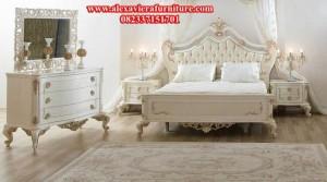 set tempat tidur gold pengantin modern mewah model klasik terbaru ukiran jepara skt-104
