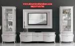 bufet tv model terbaru minimalis duco putih jepara ah-133