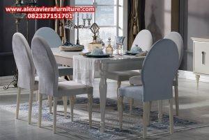 model set meja makan minimalis duco mewah modern jepara desain terbaru km-167