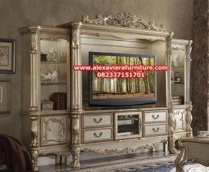 set rak tv klasik ukiran jepara model terbaru bj-022