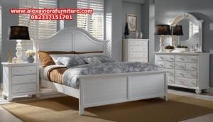 set tempat tidur duco minimalis putih jepara model terbaru skt-110