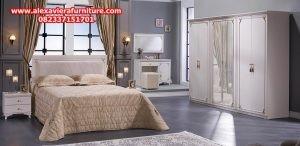 set tempat tidur minimalis mewah jepara duco model terbaru skt-108