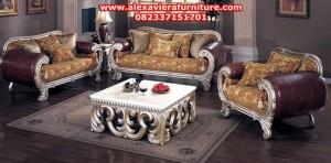 sofa ruang tamu yuyu klasik modern mewah model terbaru ukiran jepara kt-179