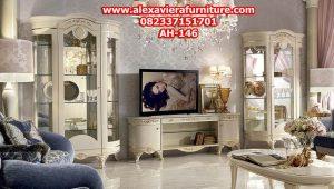 model bufet tv mewah duco klasik modern jepara model terbaru ah-146