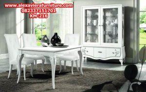 set kursi makan minimalis terbaru duco model modern km-216