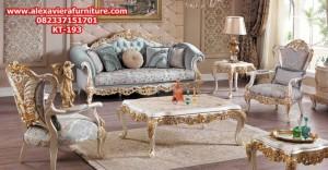 set sofa ruang tamu klasik mewah auro ukiran jepara model terbaru kekinian kt-193