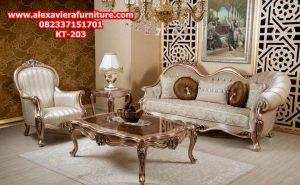 set sofa ruang tamu klasik modern mewah ukiran jepara model terbaru kt-203