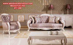 set sofa ruang tamu model terbaru mewah modern duco klasik jepara kt-198