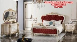 set tempat tidur eropa klasik mewah modern model terbaru ukiran duco skt-113