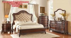 set tempat tidur klasik jati minimalis terbaru kartini jepara skt-119