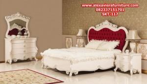 set tempat tidur klasik minimalis terbaru duco mewah ukiran jepara skt-117