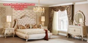 set tempat tidur pengantin mewah modern klasik ukiran jepara model terbaru skt-114