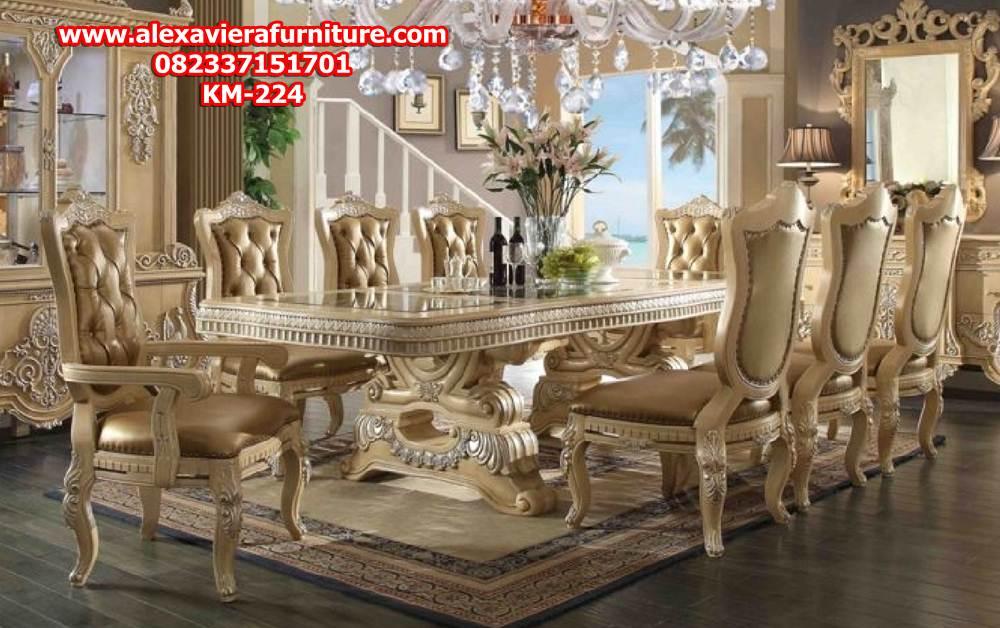 kursi makan, kursi makan mewah, kursi makan klasik, kursi makan ukiran, set kursi makan, set meja makan, kursi makan duco, kursi makan model terbaru, model kursi makan, kursi makan modern