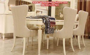 set kursi makan como minimalis mewah modern duco jepara model terbaru km-228