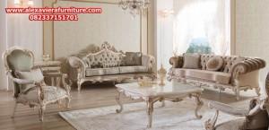 set sofa tamu kosk klasik mewah modern model terbaru ukiran jepara kt-235