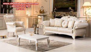 sofa tamu klasik mewah duco modern ukiran jepara model terbaru kt-216
