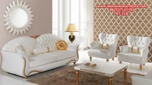sofa tamu mewah minimalis duco putih klasik jepara model terbaru kt-218